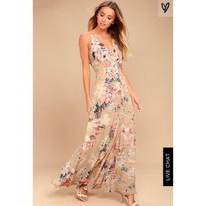 Lulu's Maxi Floral Dress